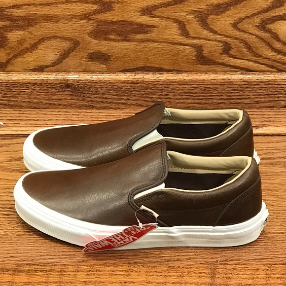 Vans Classic Slip On Lux Leather Shoes f8249d057